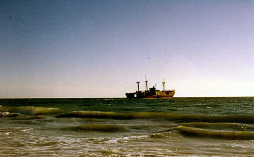 Alkimos, un barco fantasma en Australia
