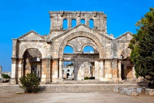 Las ruinas de la Iglesia de San Simeón, en Siria